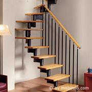 redline treppen aus stahl metall holz und aluminium modulartreppen platzspartreppen. Black Bedroom Furniture Sets. Home Design Ideas