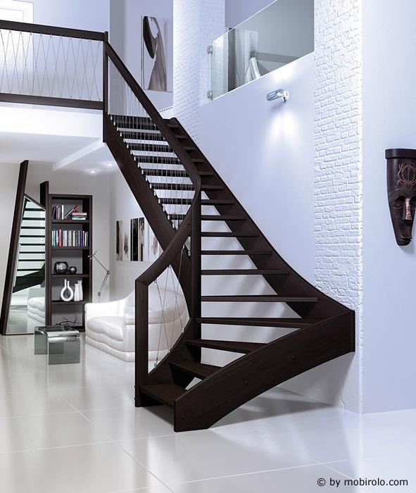 wangentreppe vertigo von mobirolo bei streger treppen. Black Bedroom Furniture Sets. Home Design Ideas